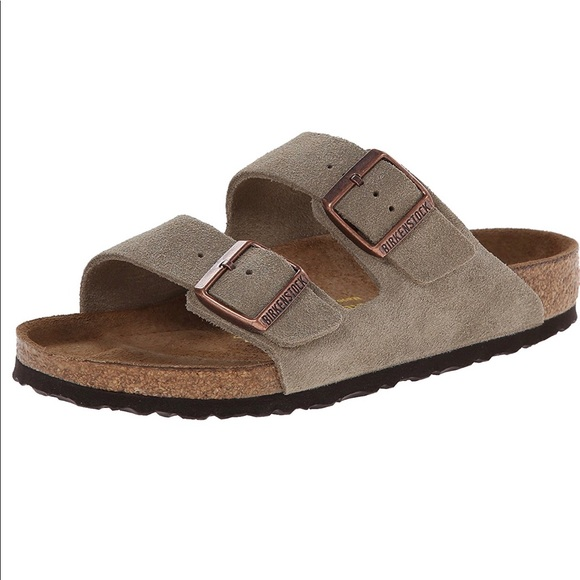 3d37f399fef8 Arizona 2-Strap Suede Leather Sandals